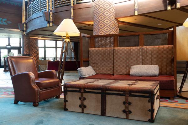 エクスプローラーズ・ロッジのソファー