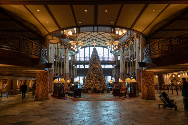 エクスプローラー・ロッジのクリスマスツリー