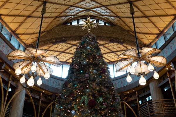 クリスマスツリーと照明
