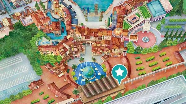 東京ディズニーシー・インフォメーション地図